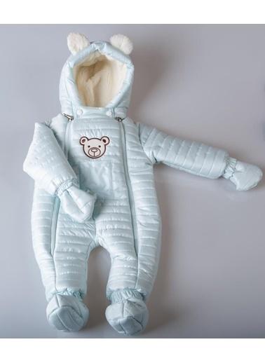 POKY Yeni Sezon Kız Bebek Çocuk Ayıcık Armalı Çift Fermuarlı Kozmonot Tulum-103144 Yeşil